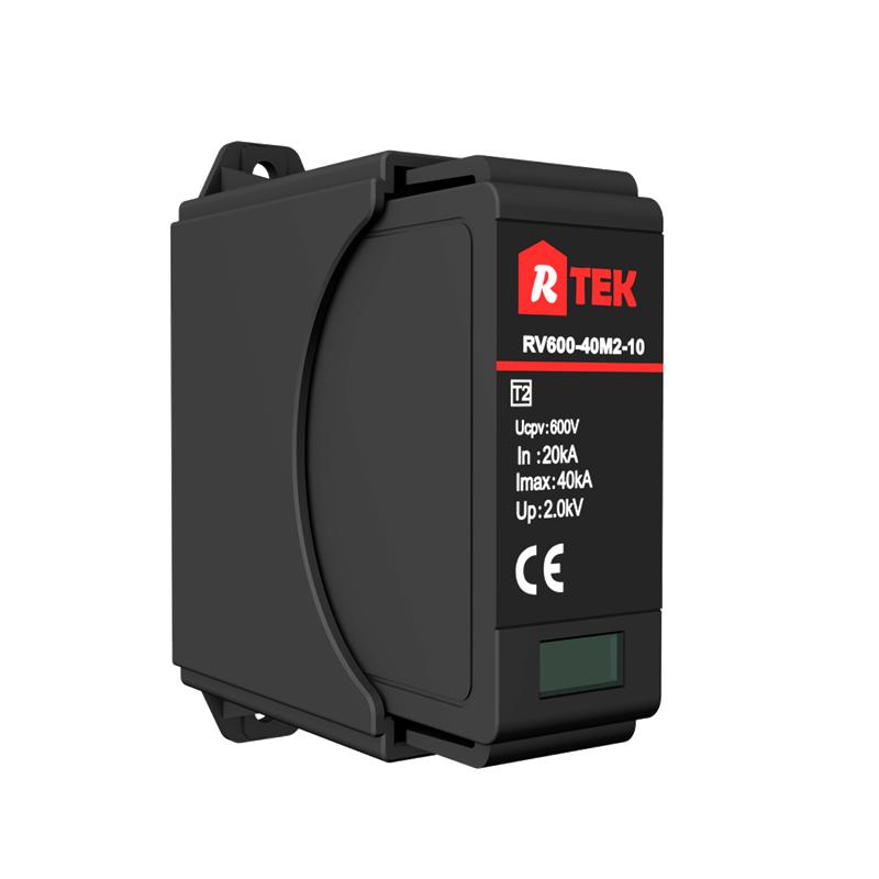 RV500(600 750)-40M2-10 Type 2 /Class Ⅱmulti-purpose single-pole SPD with anti-vibration pluggable module